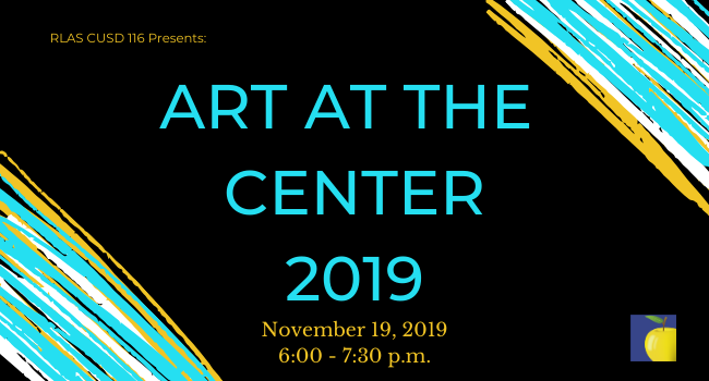 Graphic with text Art at the Center 2019 November 19, 2019