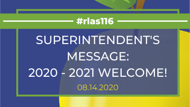 Superintendent's Message: 2020 - 2021 Welcome! Graphic