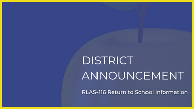 School District Announcement