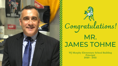 Welcome Dr. Tohme, New Building Principal at Murphy!