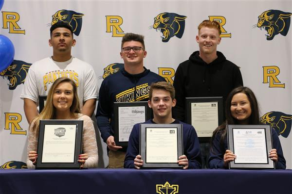 Student athletes sign letters of intent for college sports
